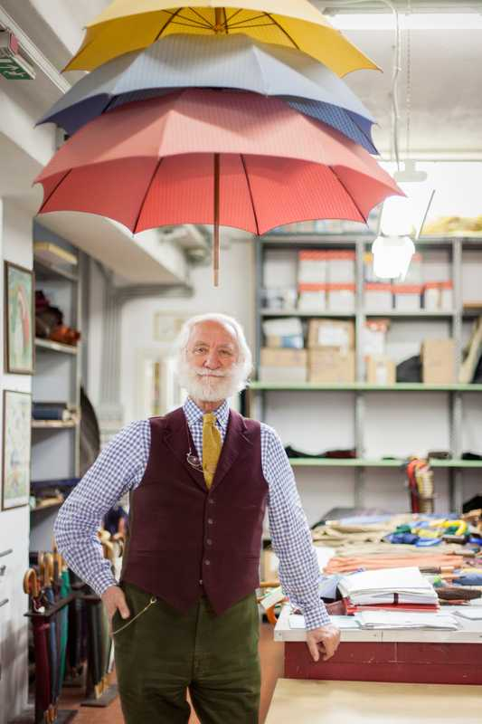 Fifth-generation umbrella maker Francesco Maglia