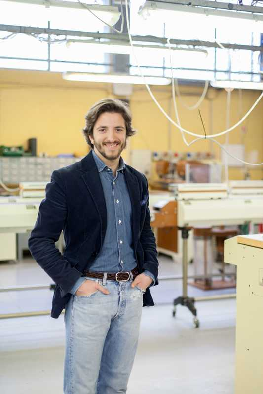 Adriano Meneghetti, a young Milanese native whose eponymous belt brand is popular overseas
