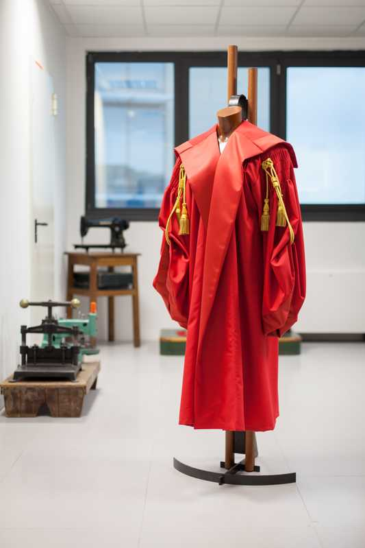 Judge's robes in Fraizzoli showroom