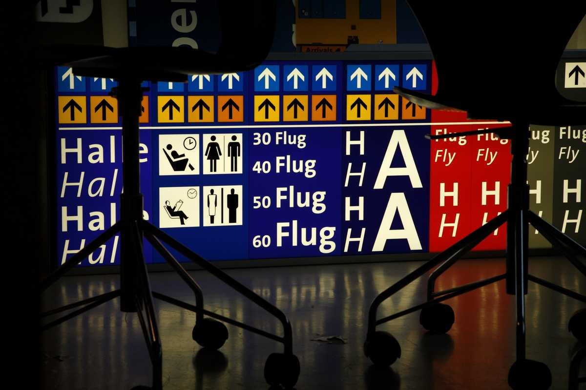 Mock-up of a lightbox for Frankfurt airport