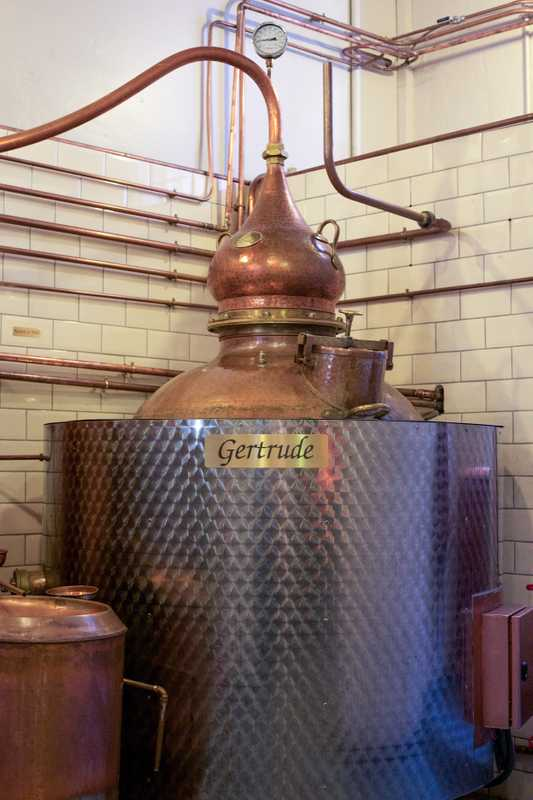 Copper pot still  Gertrude