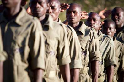 Anti-poaching rangers