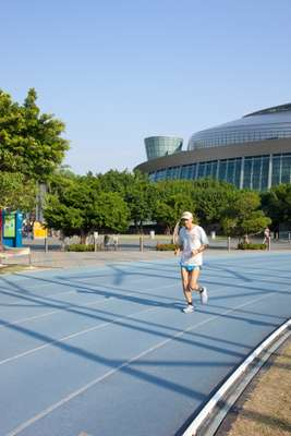 Keeping fit at Taipei Sports Arena