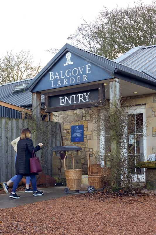 Entrance to  Balgove Larder