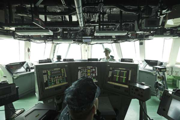 The ship's wheelhouse