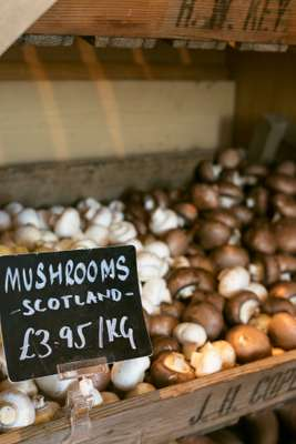 The shop has a large selection of fruit and vegetables and 70 per cent of the produce  is from Scotland or the UK