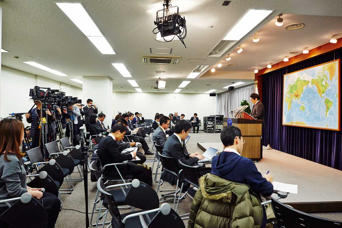 Yasuhisa Kawamura, the ministry's new press secretary, talks about a hostage crisis