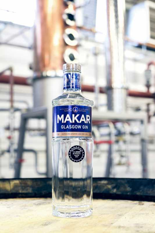 Makar Glasgow gin from the Glasgow Distillery Company