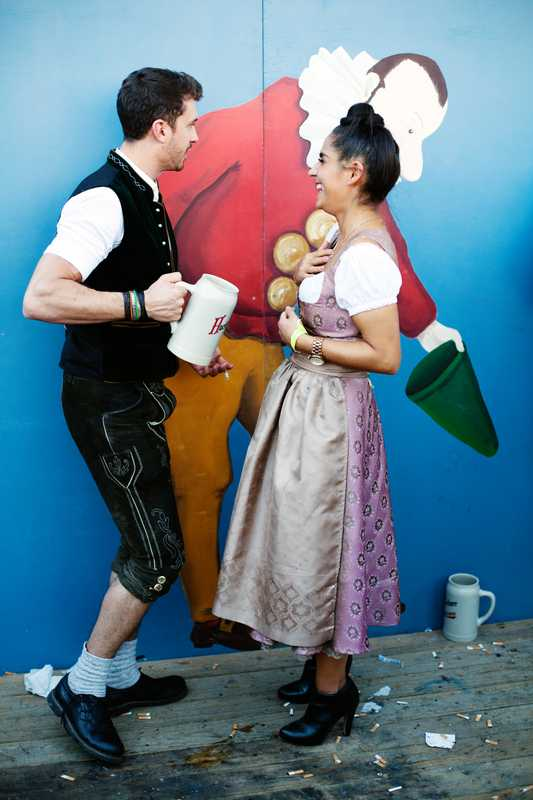 Couple who just met at Oktoberfest