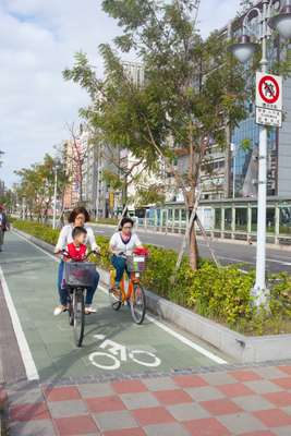 Taipei is a bike-friendly city