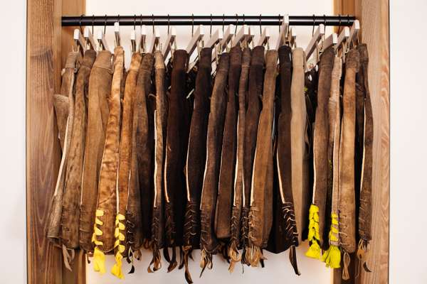 Lederhosen and traditional trousers for sale at Lodenfrey