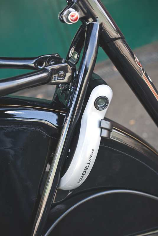 Most Dutch-style bikes have an integrated lock