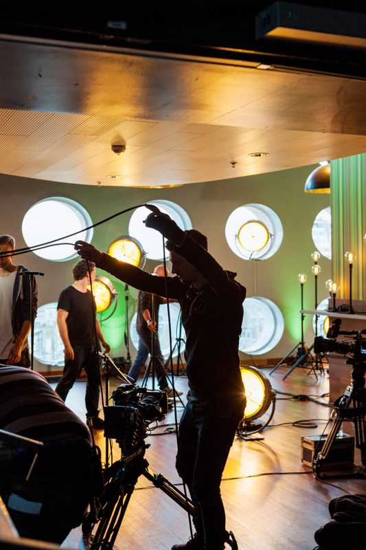 Filming 'Free Sounds'