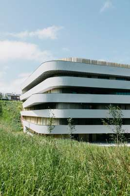 Basque Culinary Centre, built into  a steep hillside