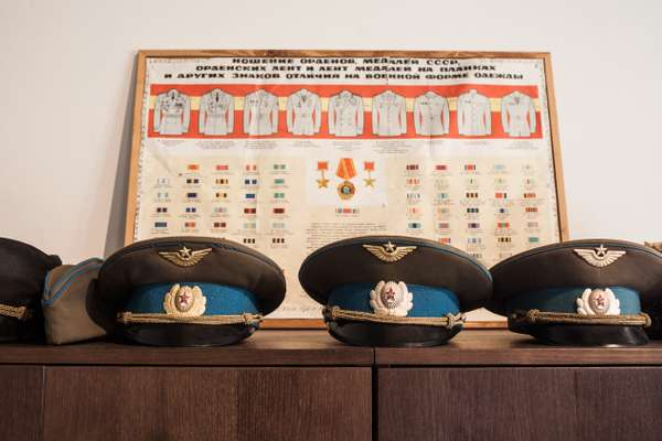 Old Soviet army hats, Daugavpils