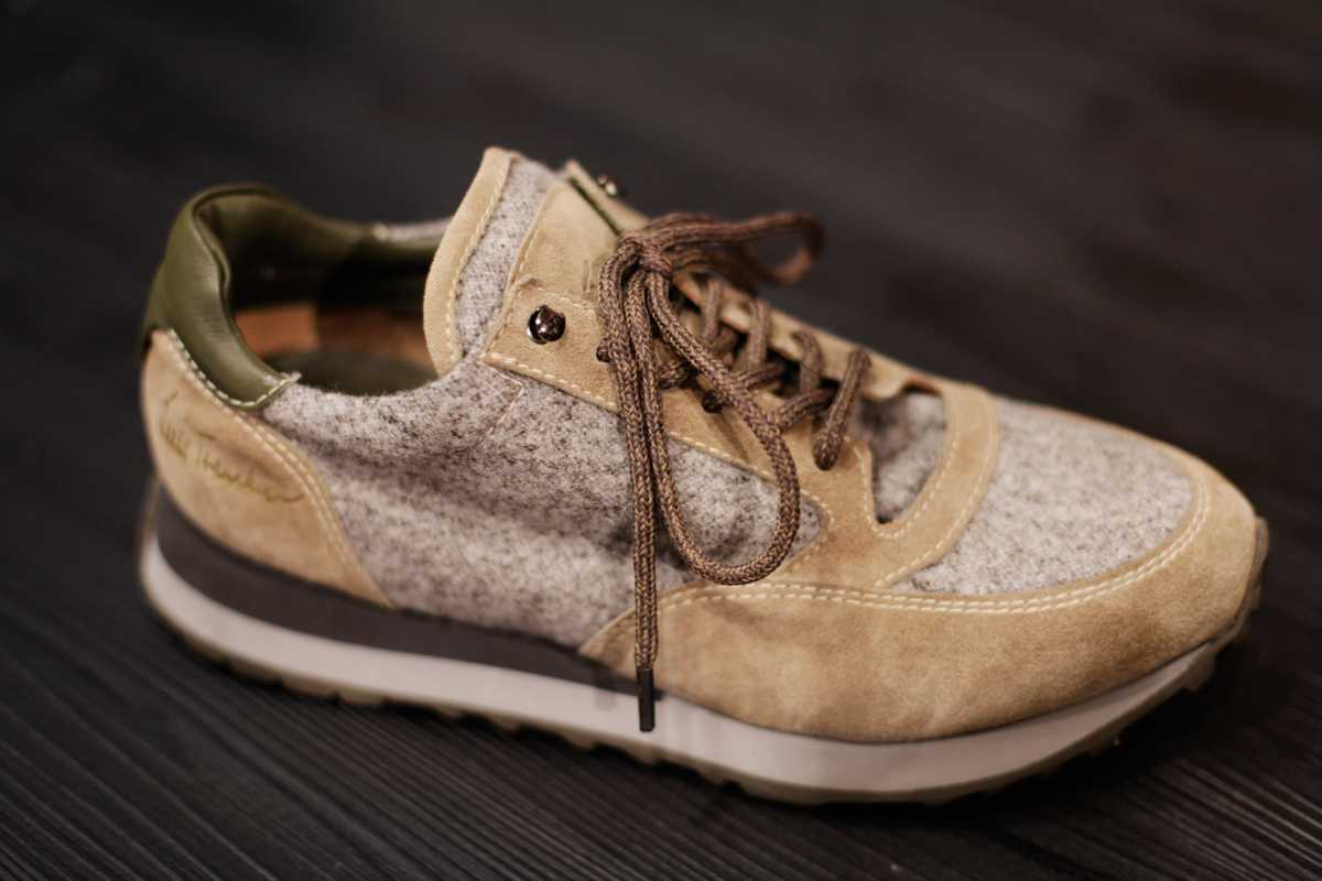 Wool-and-suede  trainers by Luis Trenker