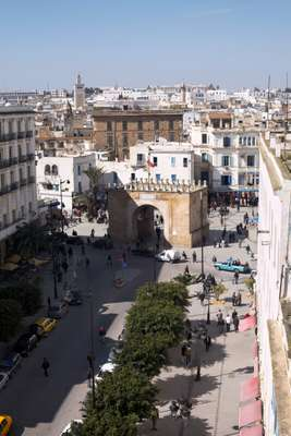 Porte de France, the gateway between the new town and the ancient medina