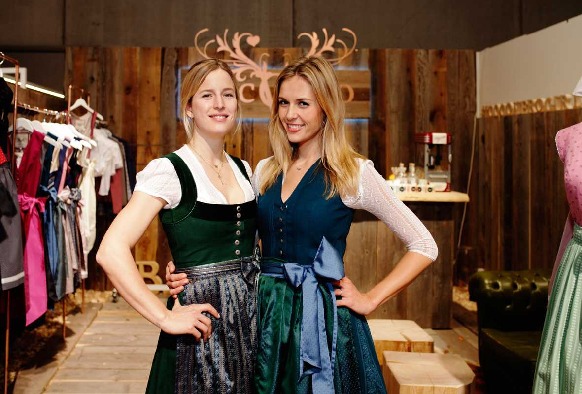 Constanze Schnitzler (left) and Veronika Stork-Jacklbauer, owners of dirndl label Cocovero