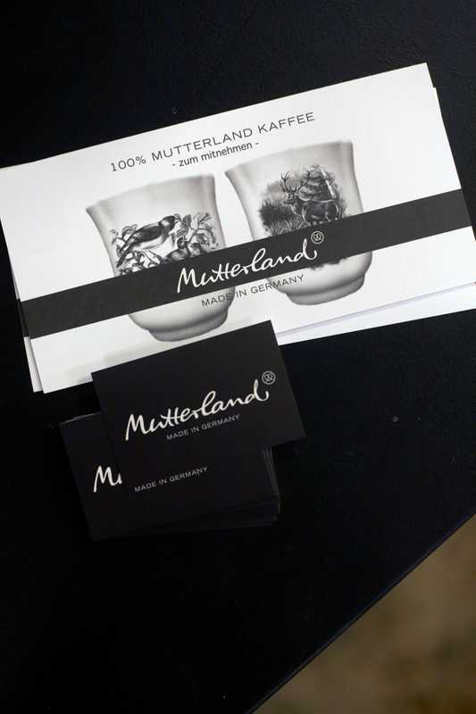 Mutterland coffee packaging
