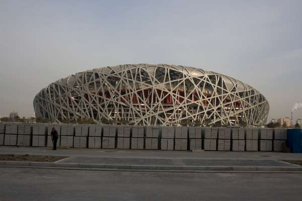 Herzog & de Meuron's National Stadium, known as the Bird's Nest