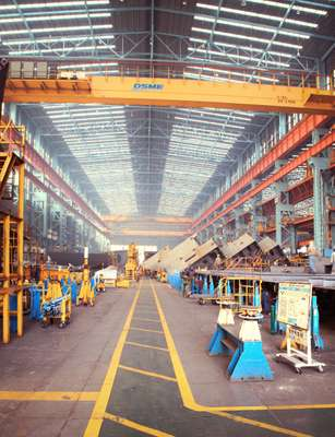Assembly shop at DSME