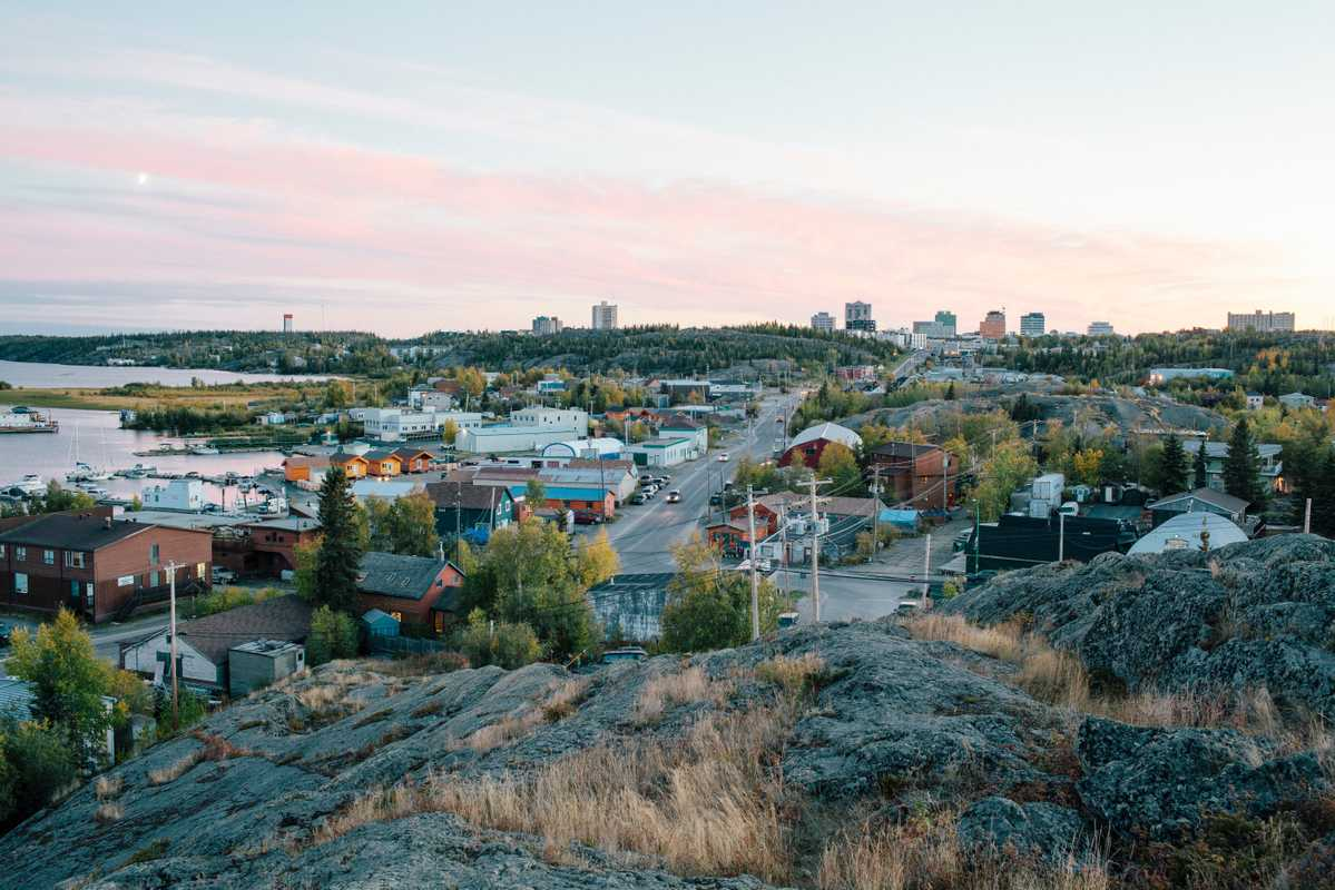 View of Yellowknife from Pilot's Monument in Old Town