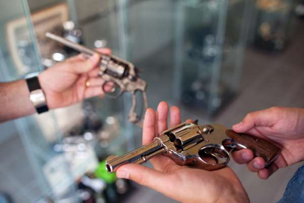 Original .32-calibre revolver from the 1920s