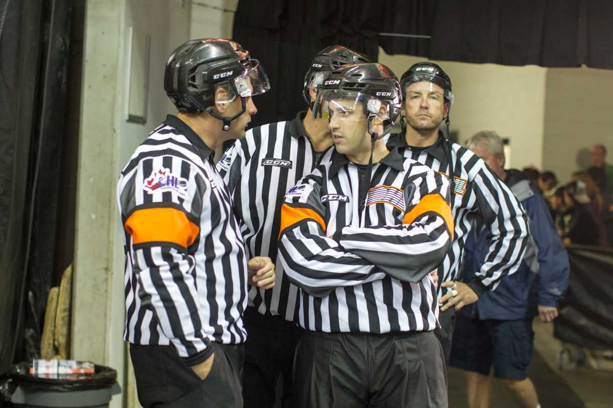 Referees getting ready to earn their stripes