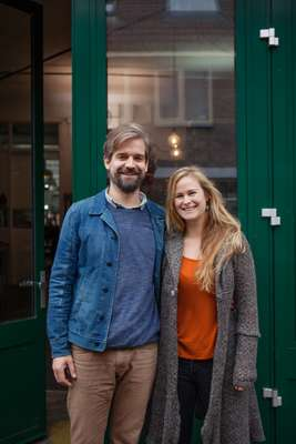 Laurens van der Wee and Evelien van Zonneveld, owners of Werfzeep
