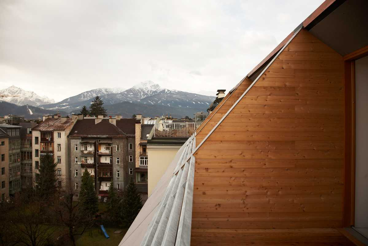 The view from one of Dregelyvari's converted apartment terraces