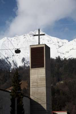 Modernist church in Saggen