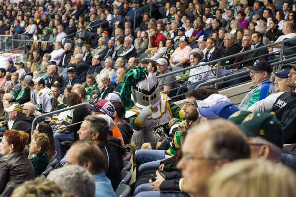 Scorezy amping up the crowd in Budweiser Gardens