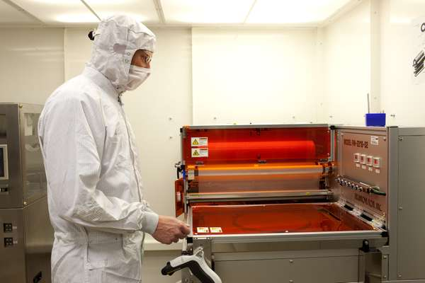 Production of wafers in the laboratory
