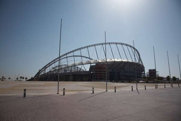 Khalifa International Stadium next to Aspire, one of the venues for the 2006 Asia Games