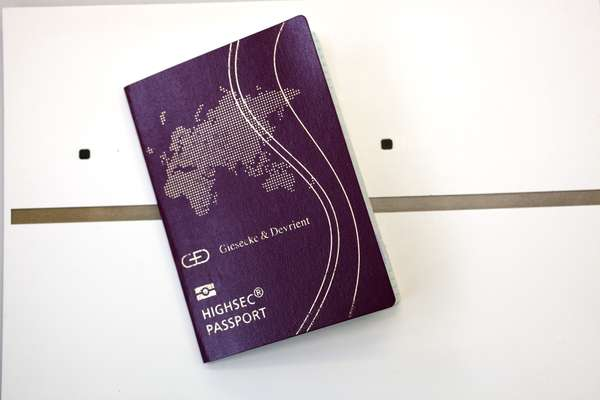 Passport fitted with semiconductors