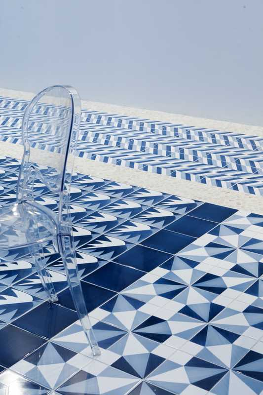 02. Blu Ponti tiles by Ceramica Francesco De Maio