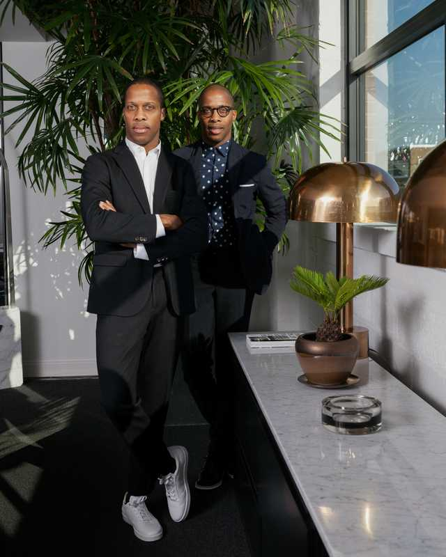 Byron (left) and Dexter Peart, Want les Essentiels de la Vie