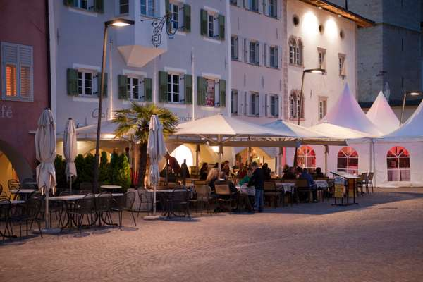 LED street lights in the South Tyrol village of Caldaro