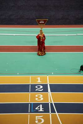 Dress rehearsal for theThird Asian Indoor Athletics Championship, held at Aspire in February this year