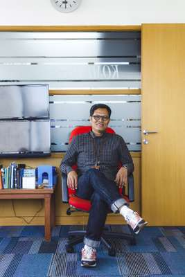 Editor in chief of kompas.com, Wisnu Nugroho