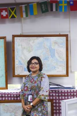 Irene Prastiyani, secretary to the chief editor, has been working at 'Kompas' for 30 years