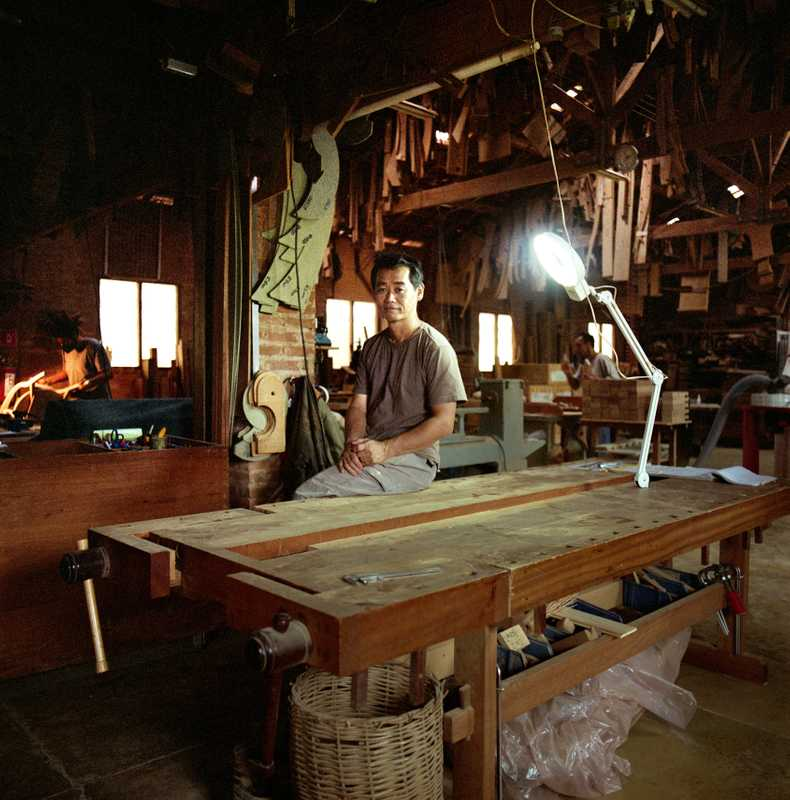 Carpenter and furniture designer Morito Ebine