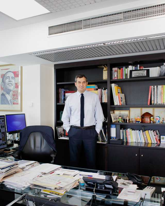 'La Repubblica' editor in chief Mario Calabresi in his office