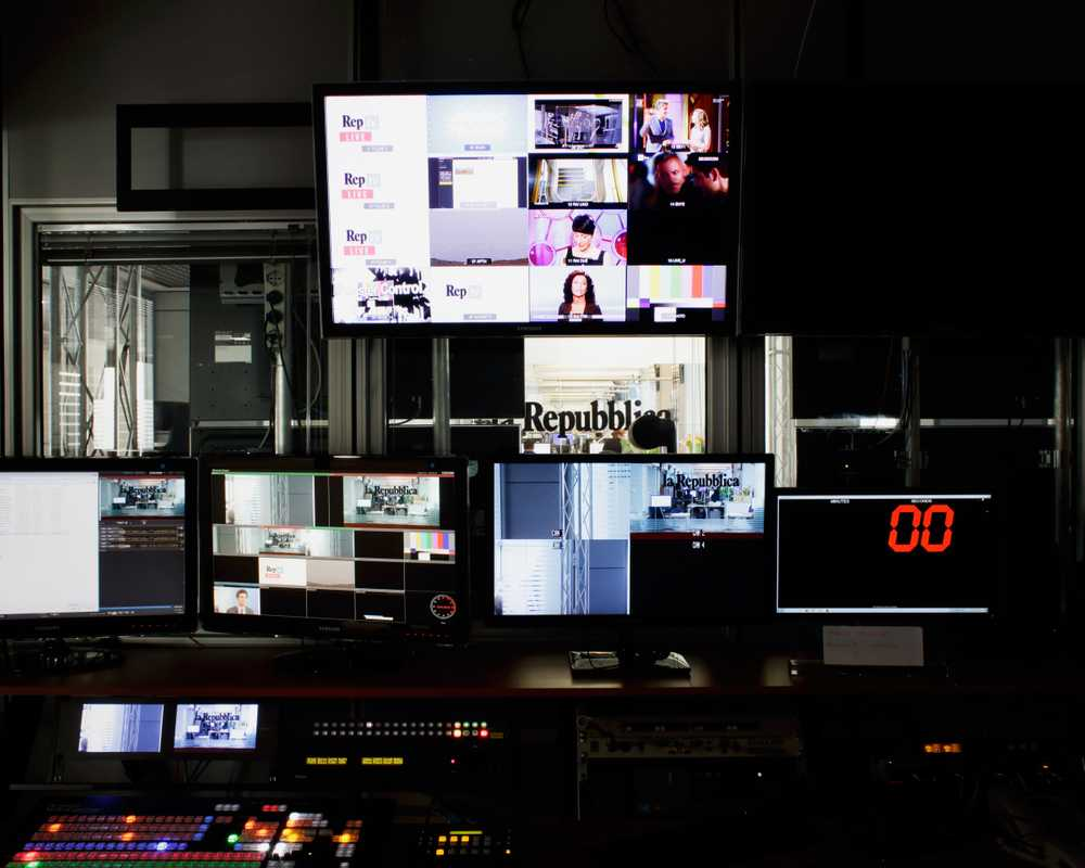 Control room in online video news department