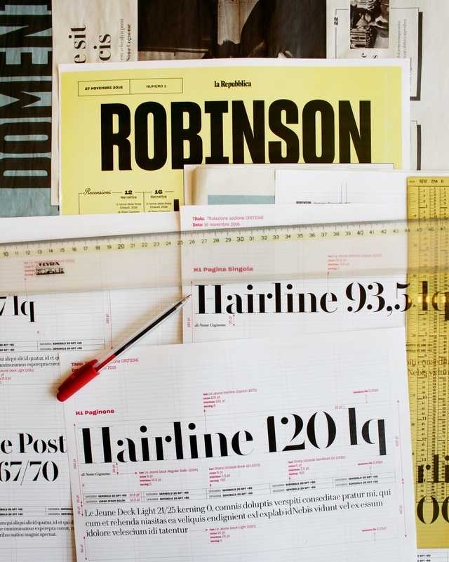'Robinson' layout and fonts