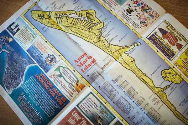 Map of the island and its many attractions