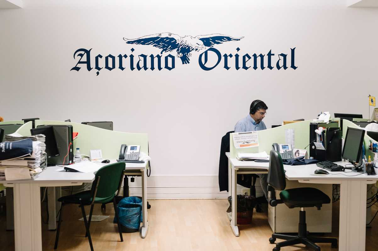 Newsroom of 'Açoriano Oriental' newspaper in Ponta Delgada, São Miguel