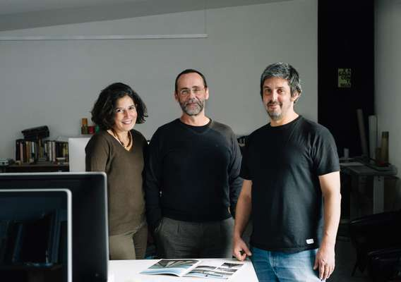From l-r: P-06 founders Estela Estanislau, Nuno Gusmão and  Pedro Anjos