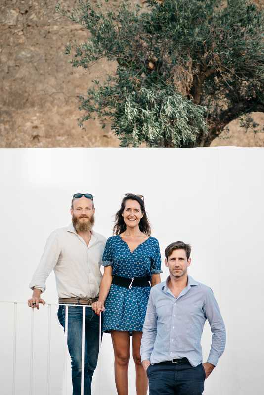 From l-r: Christian Kraus, Veronique Polaert and designer Martin Blanchard