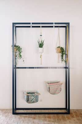 Clothes hanger, here used for plants